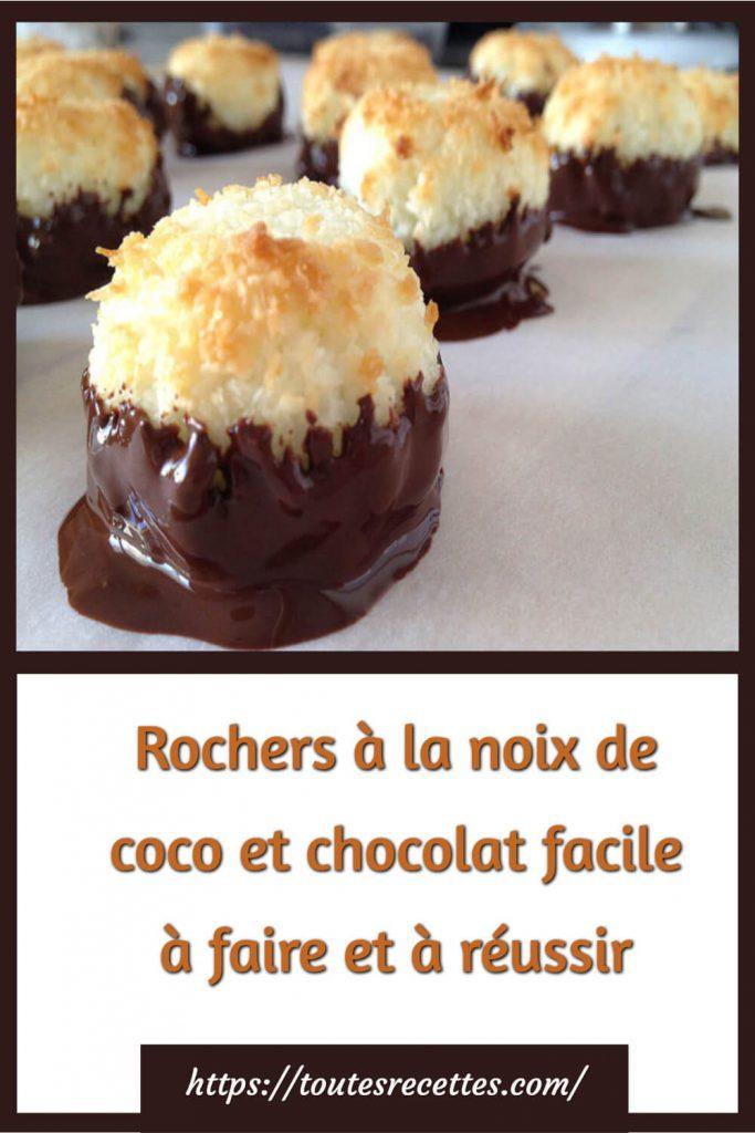 Comment préparer les Rochers à la noix de coco et chocolat facile à faire et à réussir
