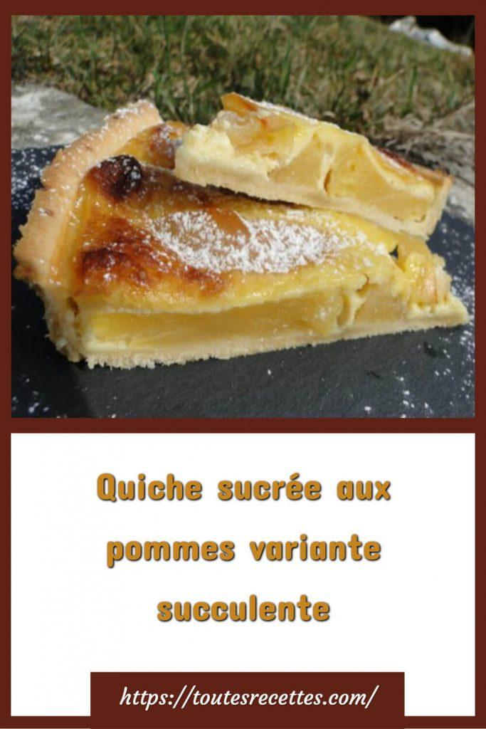 Comment préparer la Tarte aux pommes façon quiche