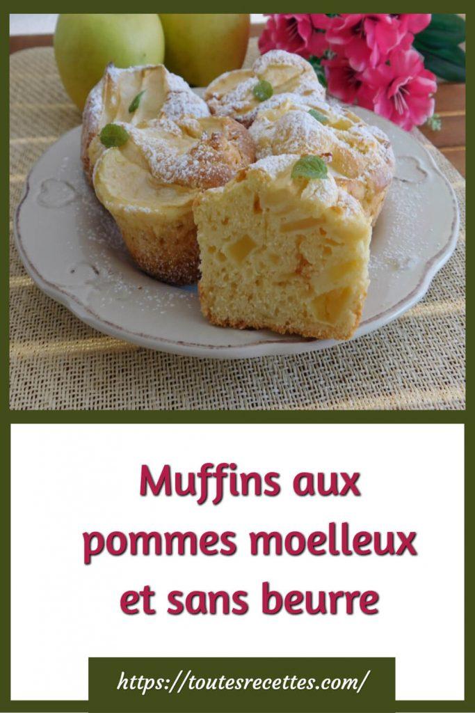 Comment préparer des Muffins aux pommes moelleux et sans beurre
