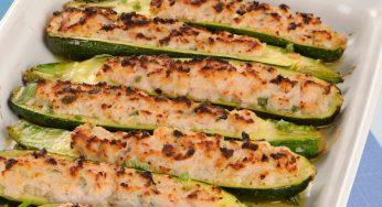 Recette Courgettes farcies au saumon variante savoureuse