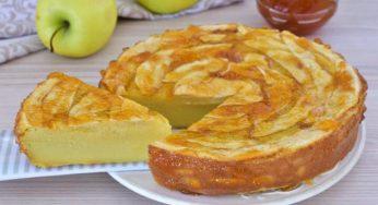 Tarte aux pommes crémeuse et fondante