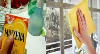 Comment fabriquer un nettoyant pour vitre naturelle à base de Maïzena
