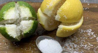 Coupez le citron mettez du sel dessus astuce incroyable