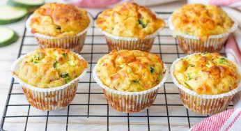 Muffins aux pommes de terre aux courgettes et jambon