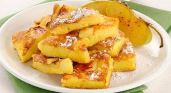 Omelette aux pommes sucrées savoureuse et légère