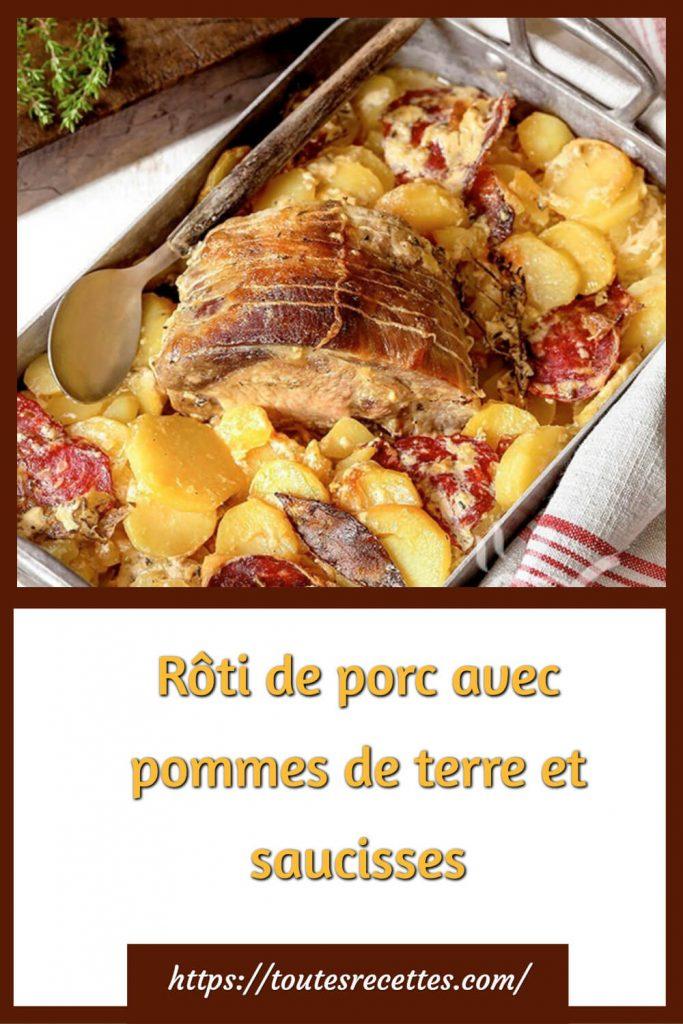 Comment préparer le Rôti de porc avec pommes de terre et saucisses