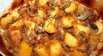 Ragoût d'agneau aux pommes de terre et champignons