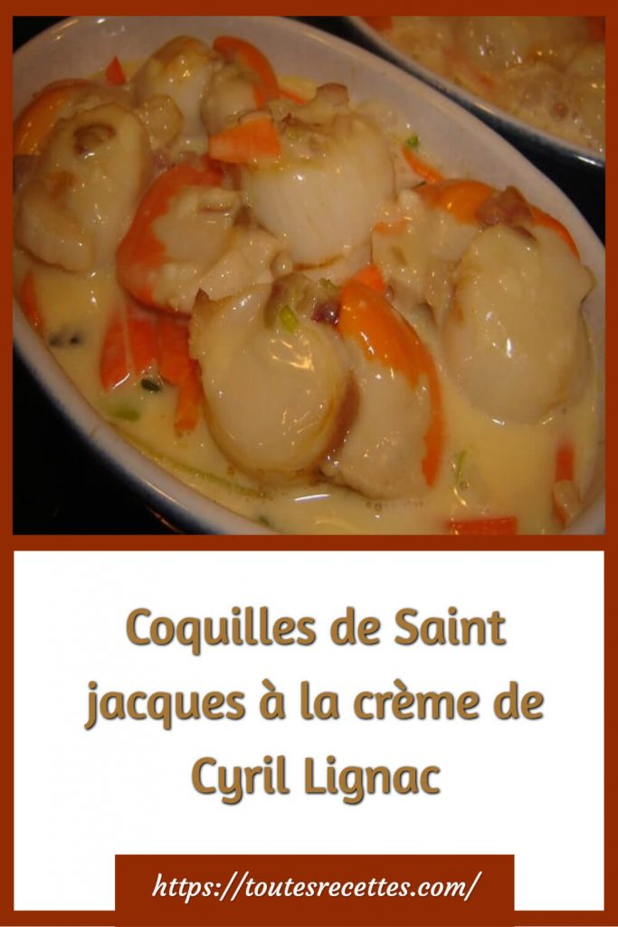 Comment préparer les Coquilles de Saint jacques à la crème de Cyril Lignac