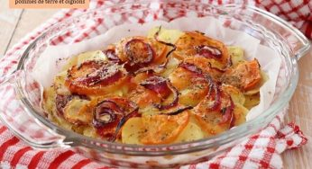 Gratin de pommes de terre et oignons au four