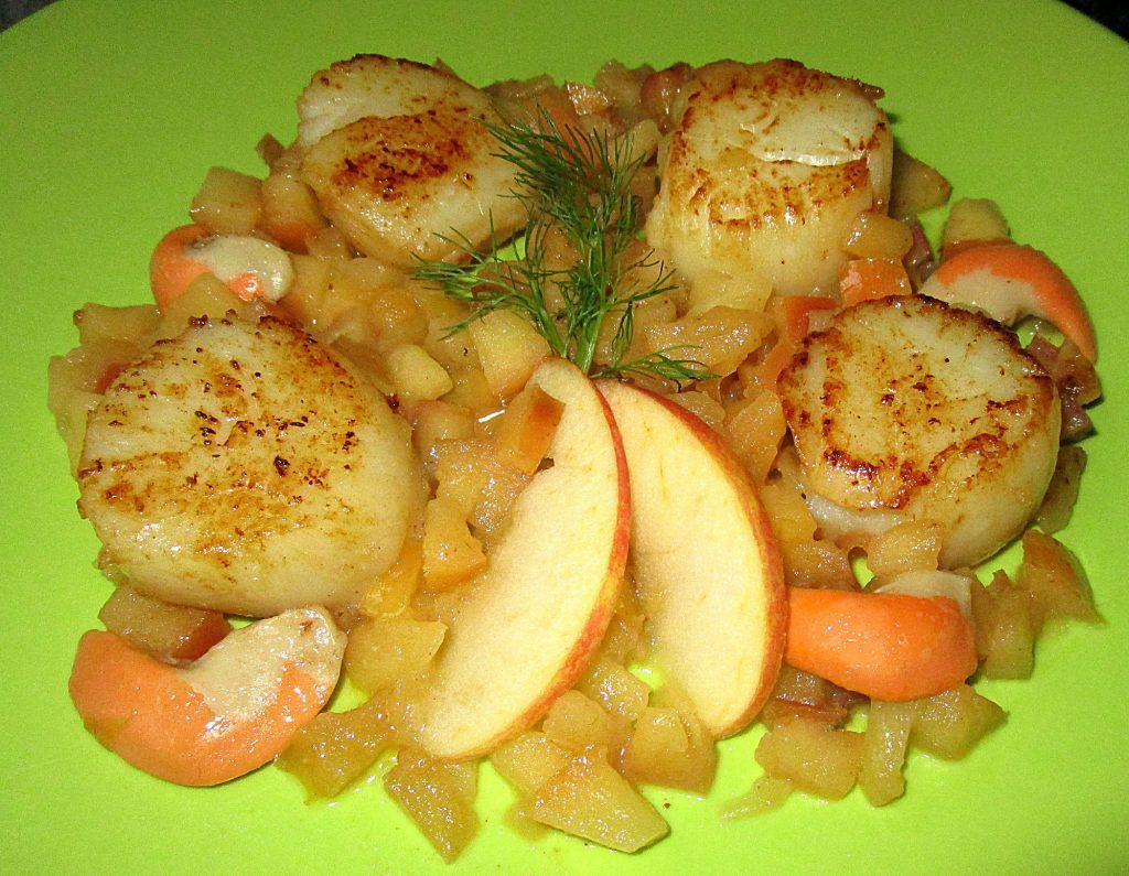 comment préparer la Coquille saint jacques aux poêlées pommes etape 3