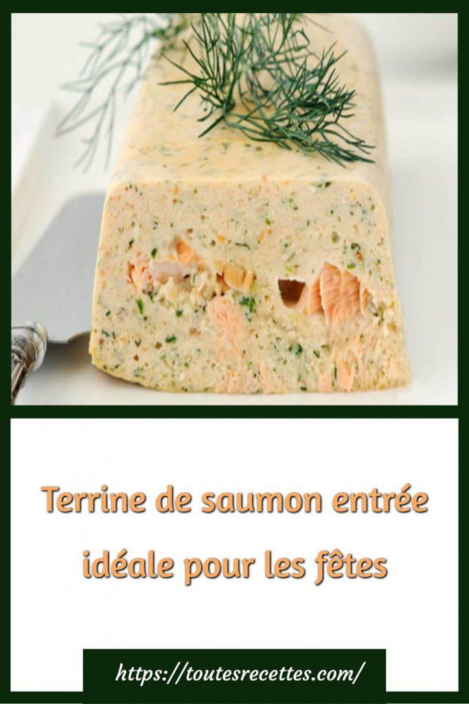 Comment préparer la terrine de saumon