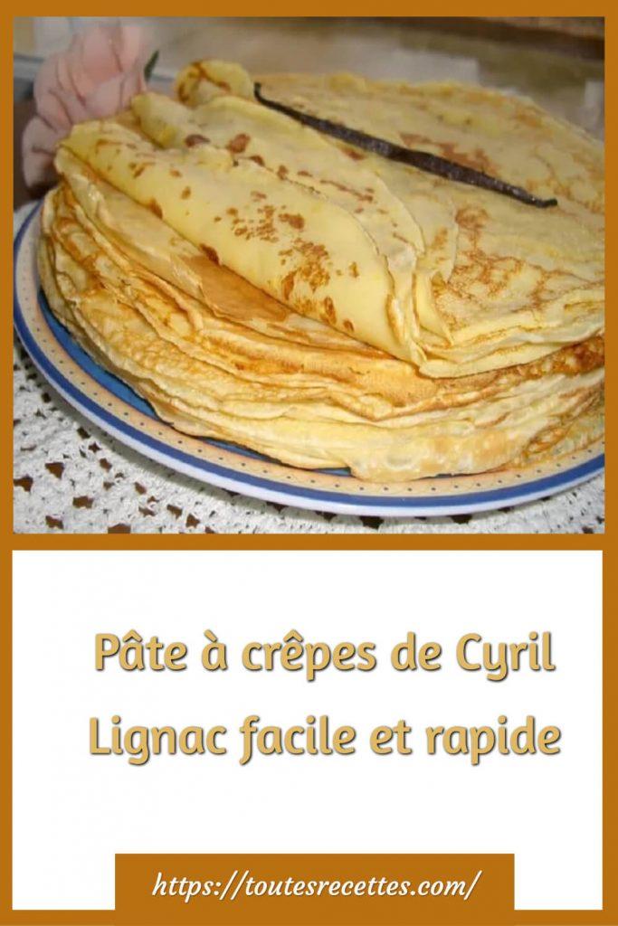 Comment préparer la Pâte à crêpes de Cyril Lignac facile et rapide