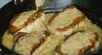 Côtelettes de porc désossées à la sauce crémeuse au citron