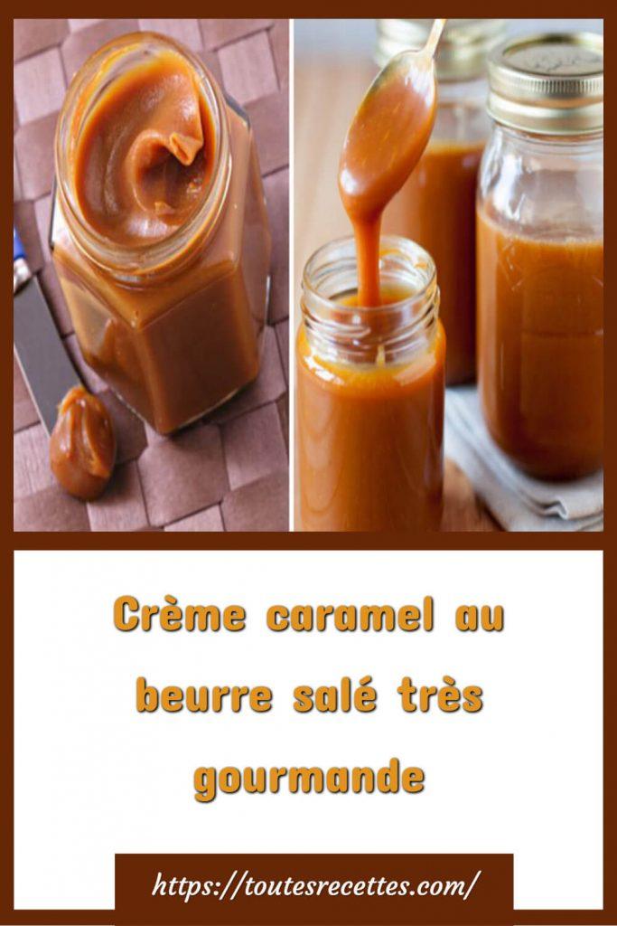 Comment préparer la Crème caramel au beurre salé