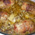 Cuisses de poulet farcies aux champignons