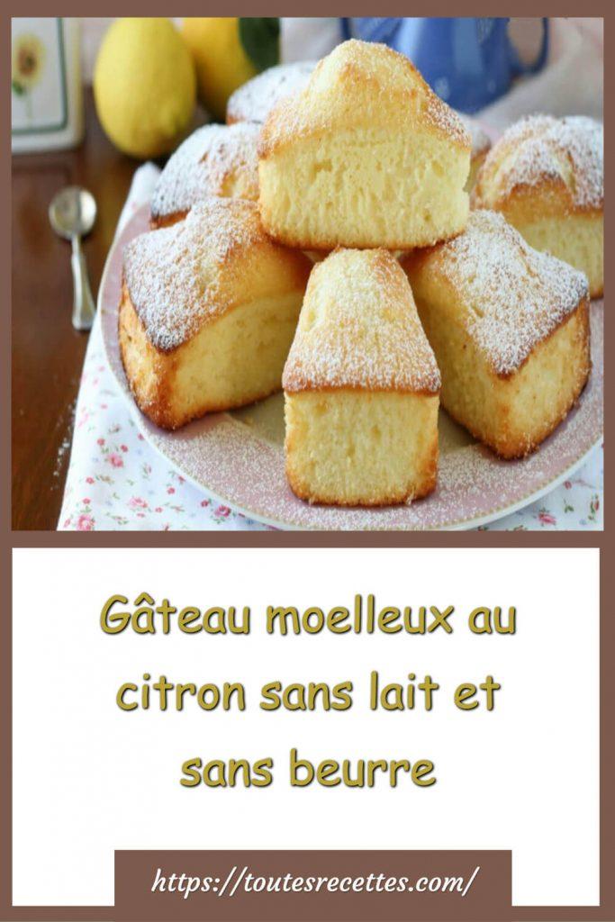 Comment préparer le gâteau moelleux au citron sans lait et sans beurre