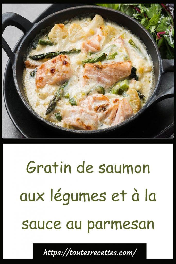 Comment préparer le Gratin de saumon et asperges à la sauce au parmesan