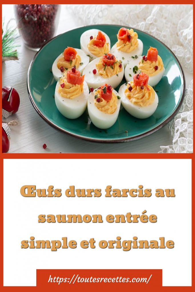 Comment préparer les œufs durs farcis au saumon