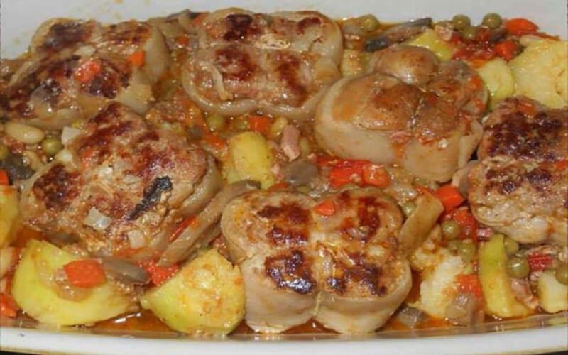 Paupiettes de porc aux légumes très savoureuses