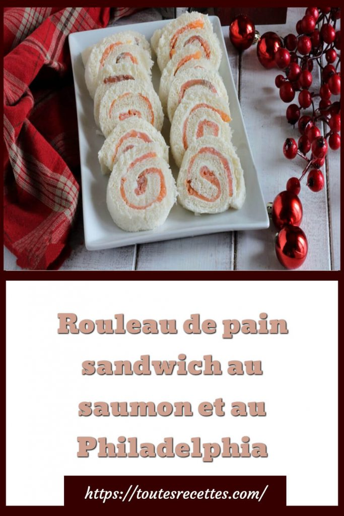 Comment préparer le rouleau de pain sandwich au saumon et au Philadelphia