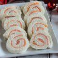 Rouleau de pain sandwich au saumon et au Philadelphia