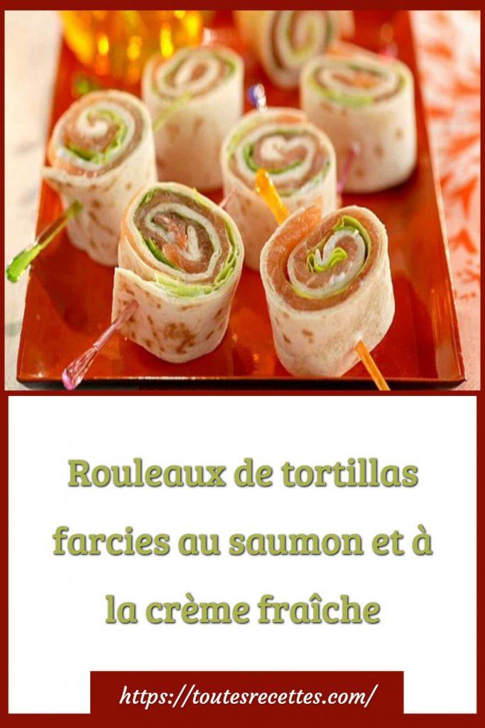 Comment préparer les rouleaux de tortillas farcies au saumon et à la crème fraîche