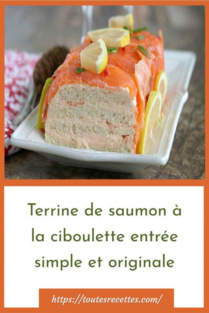 Comment préparer la terrine de saumon à la ciboulette