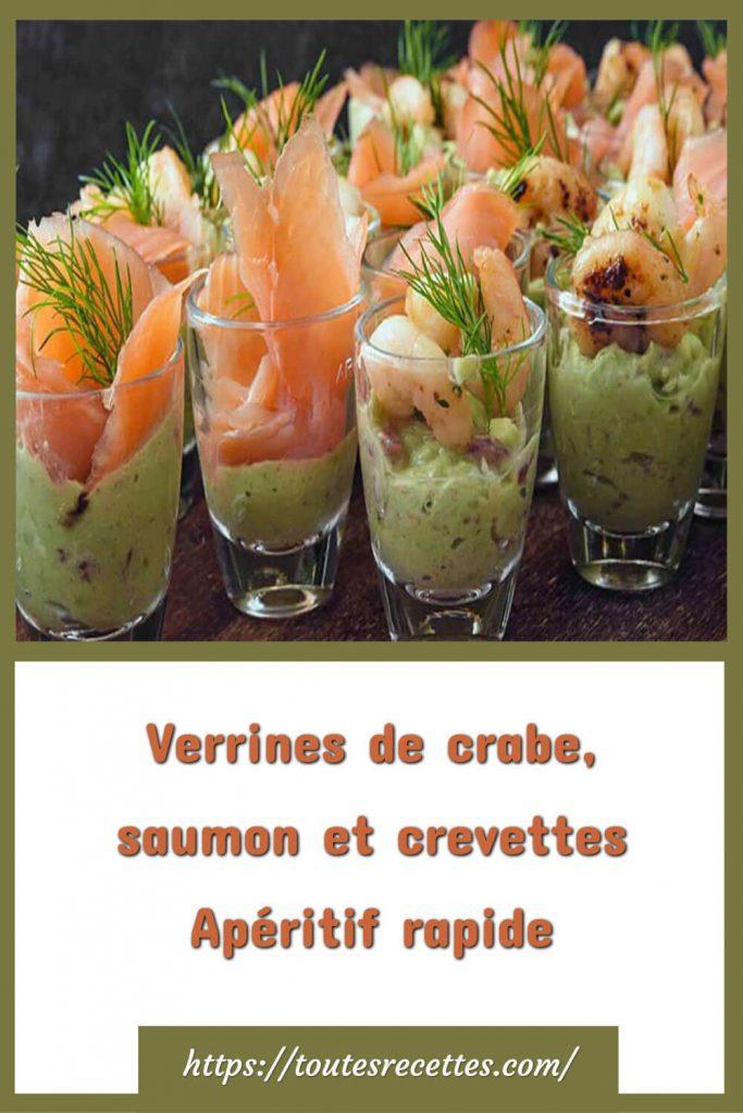 Comment préparer les Verrines de crabe, saumon et crevettes