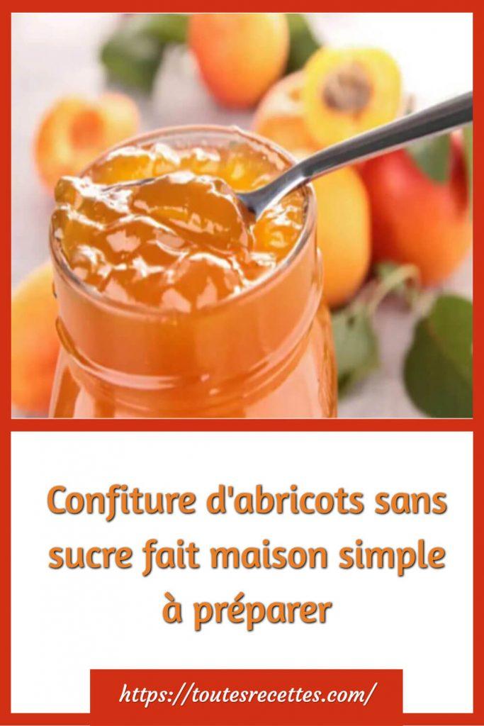Comment faire de la Confiture d'abricots sans sucre fait maison