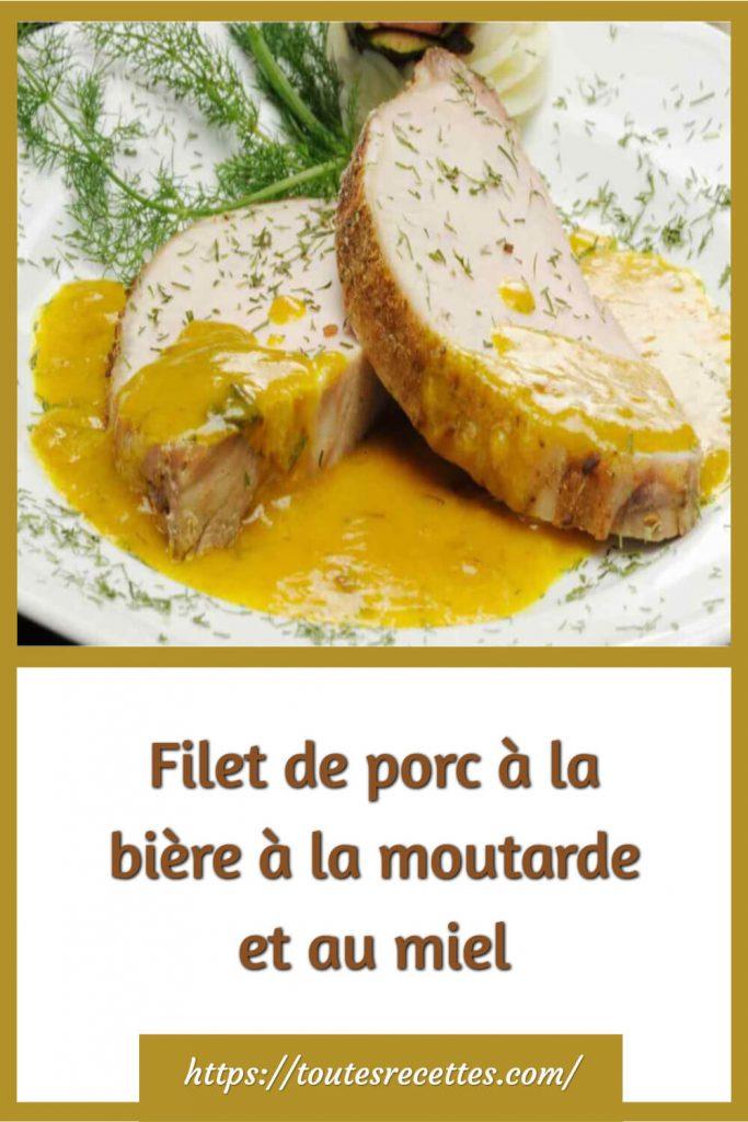 Comment préparer le Filet de porc à la bière à la moutarde et au miel