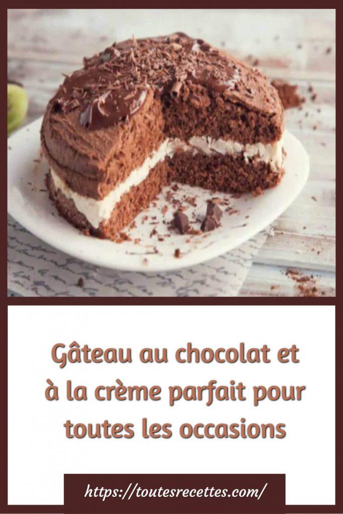 Comment préparer le Gâteau au chocolat et à la crème et chocolat noir