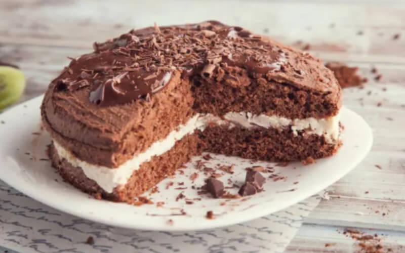 Gâteau au chocolat et à la crème