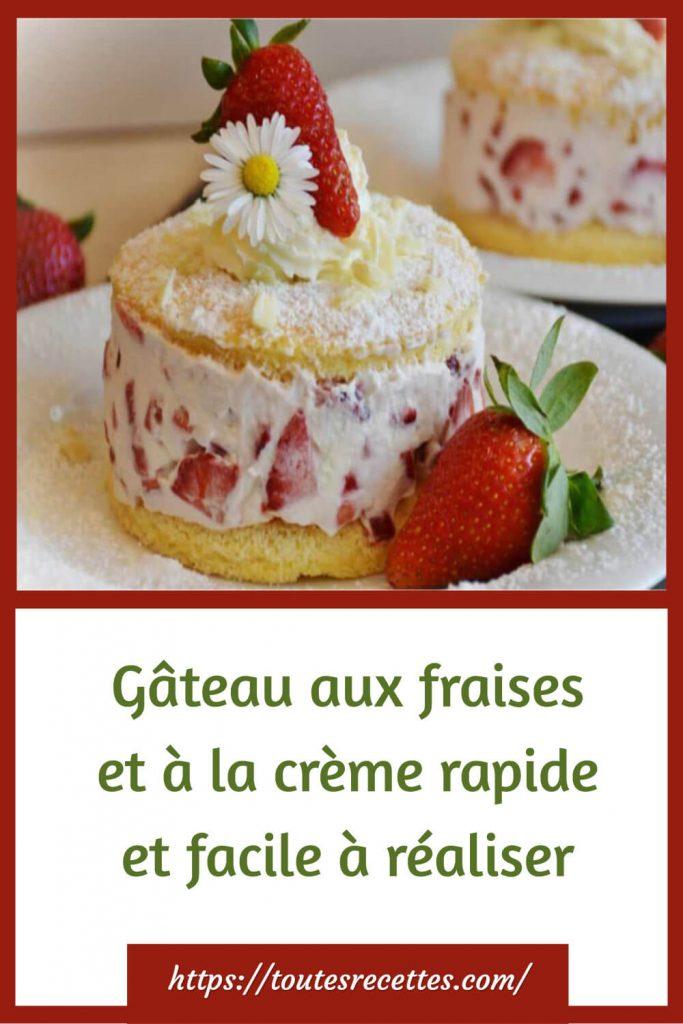 Comment préparer le Gâteau aux fraises et à la crème