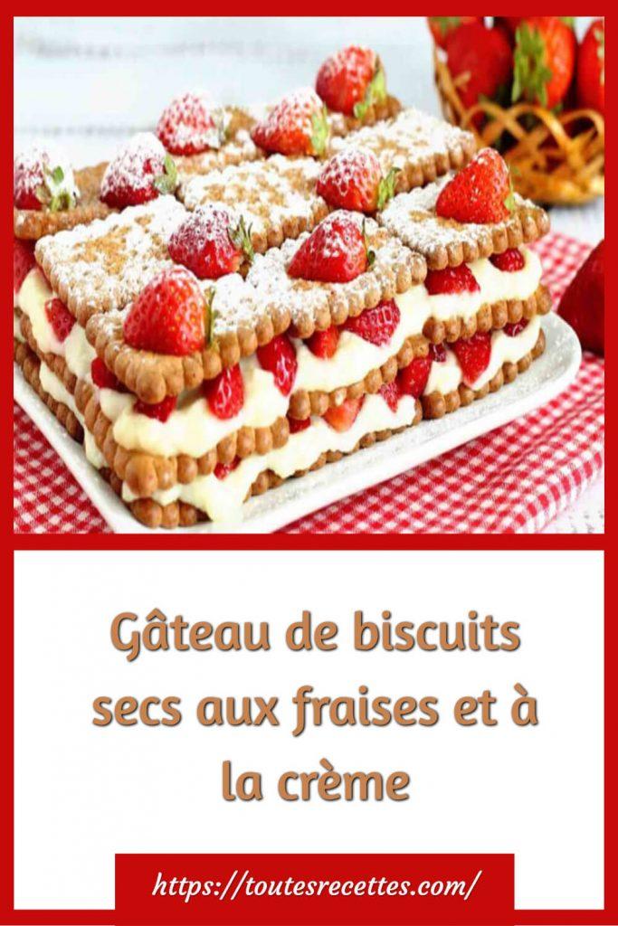 Comment préparer le Gâteau de biscuits secs aux fraises et à la crème