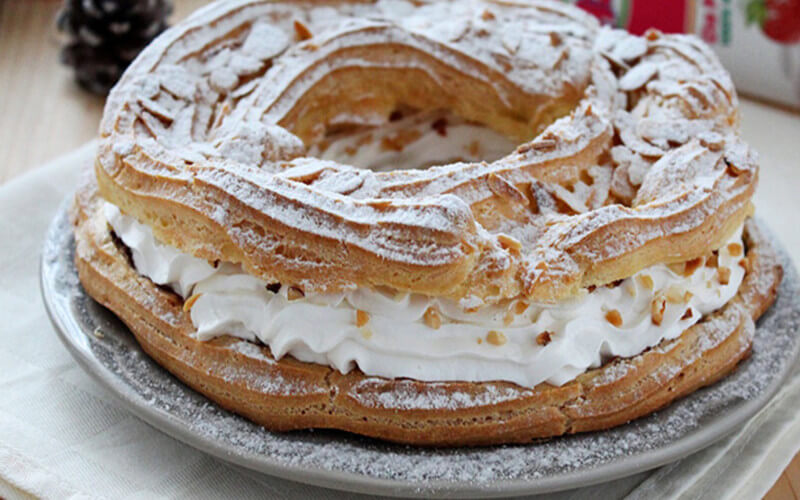 Paris-brest à la crème pâtissière sans gluten