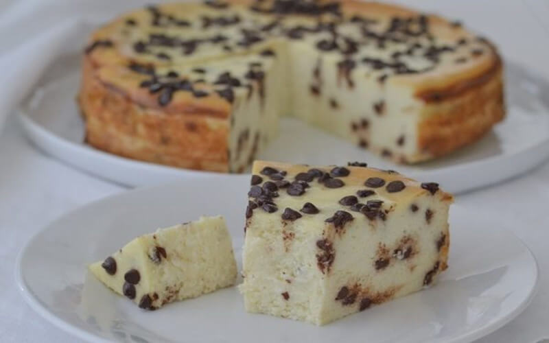 Gâteau à la ricotta et pépites de chocolat