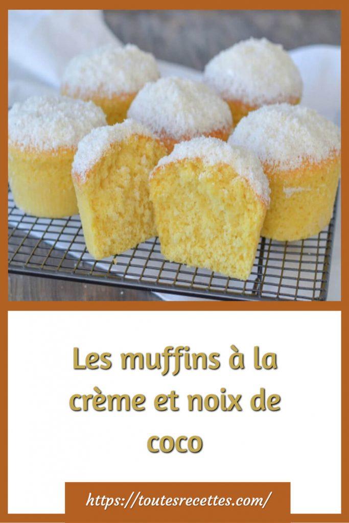 Comment préparer Les muffins à la crème et noix de coco