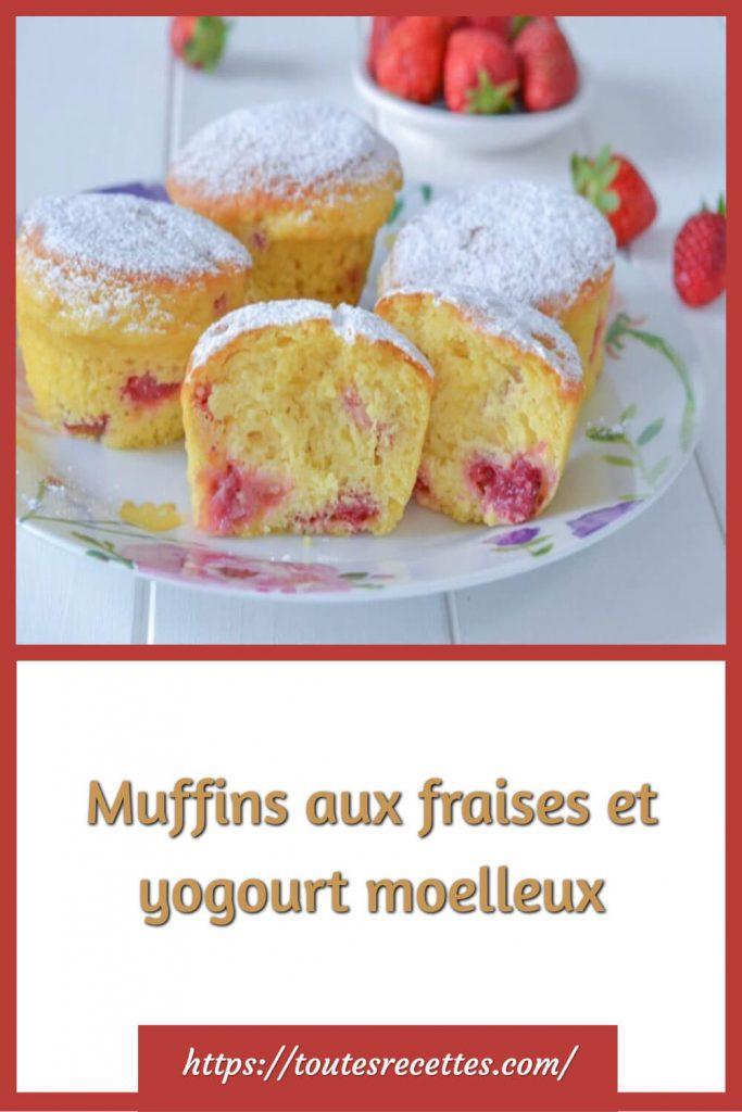 Comment préparer les Muffins aux fraises et yogourt moelleux
