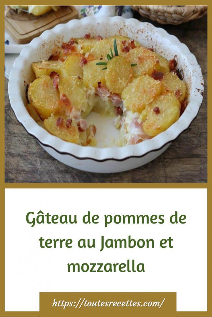 Comment préparer le Gâteau de pommes de terre au Jambon et mozzarella