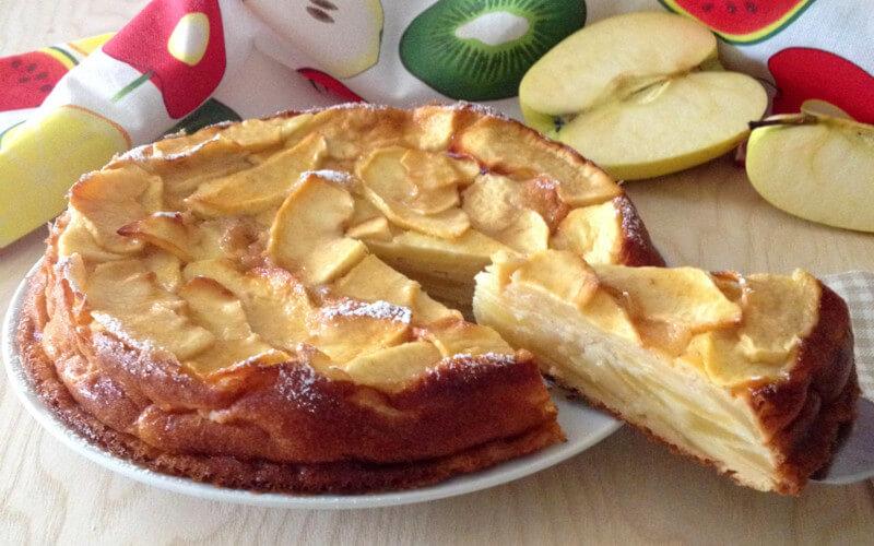 Gâteau invisible aux pommes et à la cannelle