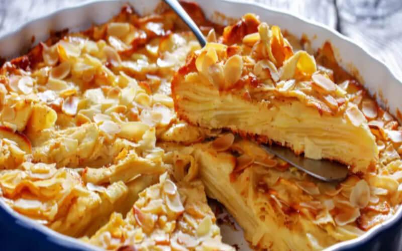 Gâteau invisible aux pommes ultra léger